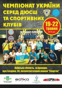 Плакат ДЮСШ Кікбоксинг, WAKO, К-1, ЧемпіонВідкритий Чемпіонат України серед ДЮСШ та спортивних клубів з кікбоксингу WAKOPlakat DYUSSH  -